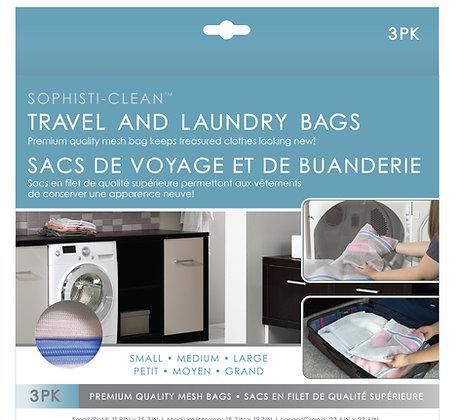 Sophisti-Clean Travel & Laundry Bags 3pk