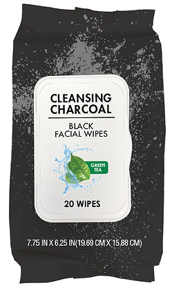 Cleansing Charcoal Facial Wipes 20 pk