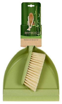 Bamboo Naturals Greenery Dustpan & Broom Set