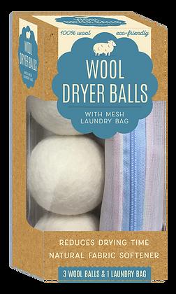 Wool Dryer Balls w/ Bonus Laundry Bag 4 PC