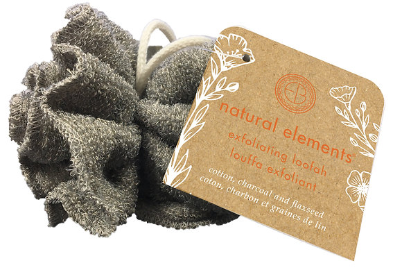 Natural Elements Charcoal & Flaxseed Exfoliating Loofah