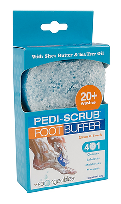 Clean and Fresh Pedi-Scrub in a Sponge