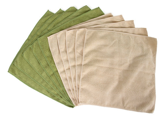 Greenery Collection Microfiber Cleaning Cloths 10 PK