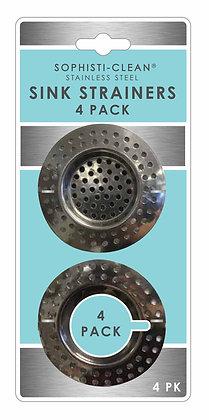 Sophisti-Clean Stainless Steel Mini Sink Strainers 4 pk