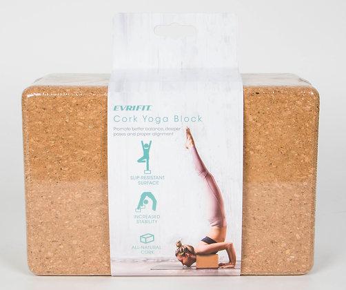 EVRIFIT Cork Yoga Block