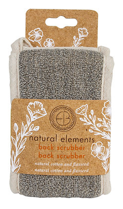 Natural Elements Cotton & Flaxseed Back Scrubber