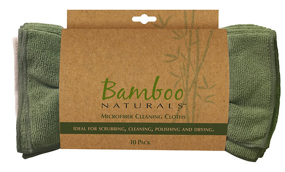 Bamboo Naturals Microfiber Cleaning Cloths 10 pk