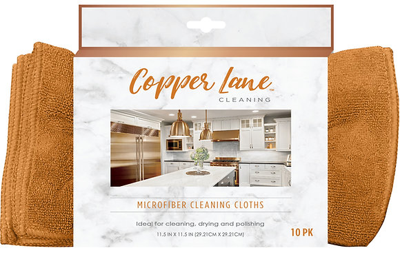 Copper Lane Microfiber Cleaning Cloths 10pk