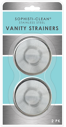 Sophisti-Clean Stainless Steel Mini Vanity Strainers 2pk