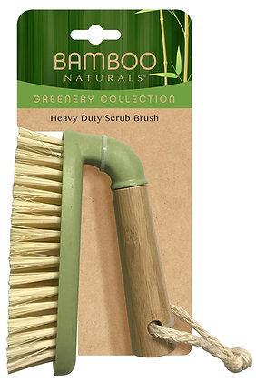 Bamboo Naturals Greenery Heavy Duty Scrub Brush
