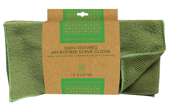 Greenery Collection Microfiber Cleaning Cloths 12 pk