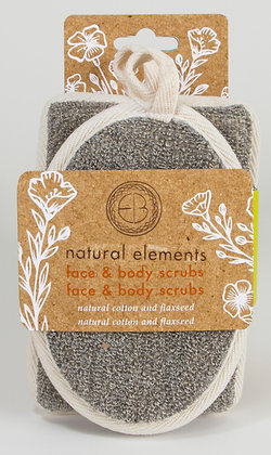 Natural Elements Cotton & Flaxseed Face & Body Scrubs