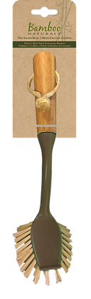 Bamboo Naturals Dish Scraper Brush