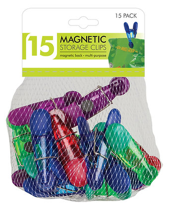 Magnetic Storage Clips 15 PK