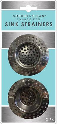 Sophisti-Clean Stainless Steel Mini Sink Strainers 2pk