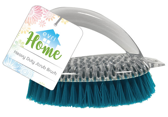 EvriHome Heavy Duty Scrub Brush - Clear Handle
