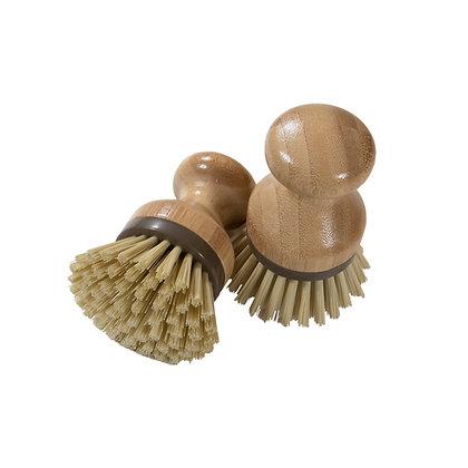 Bamboo Naturals Mini Scrub Brush 2pk