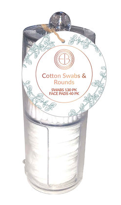 EvriBeauty Cotton Swabs & Rounds Container