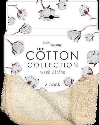 The Cotton Collection Wash Cloths 2pk