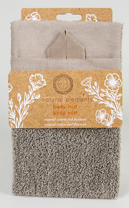 Natural Elements Cotton & Flaxseed Body Mitt