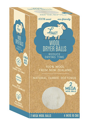 Mega Wool Dryer Balls 2 PC