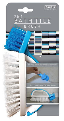 Double Scrub Bath Tile Brush