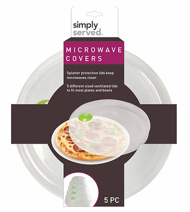 Simply Served Microwave Covers 5pc