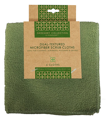 Greenery Collection Microfiber Cleaning Cloths 6 pk