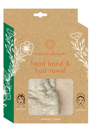 Natural Elements Head Band & Hair Towel