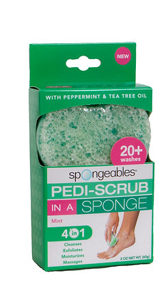 Mint Pedi-Scrub in a Sponge