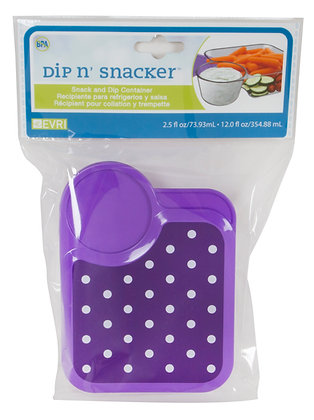 Dip N' Snacker Container
