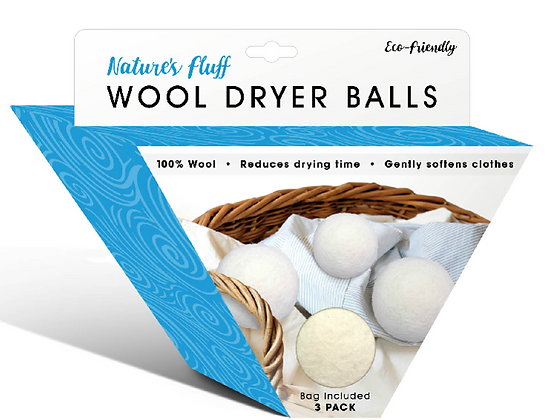 Nature's Fluff Wool Dryer Balls