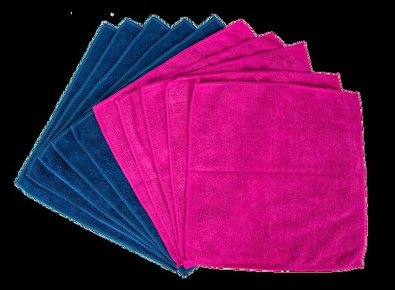 EvriHome Microfiber Cleaning Cloths 10 pk - Ink & Fuschia