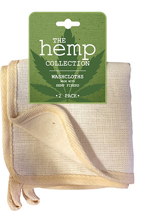 The Hemp Collection Washcloths 2pk