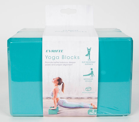 EVRIFIT Yoga Block 2pk