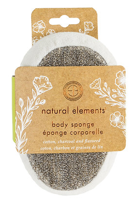 Natural Elements Cotton & Flaxseed Body Sponge