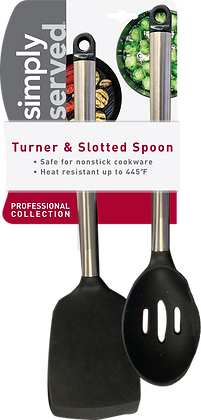 Simply Served Professional Collection Turner & Slotted Spoon