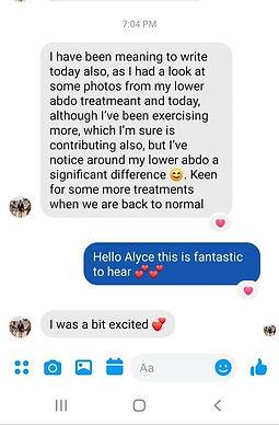 fat freezing testimonial by Alyce