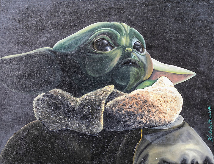 Baby Yoda - The Mandalorian Star Wars Series - Fan Art