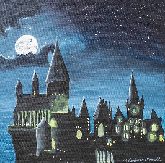 Harry Potter's Hogwarts Castle - Acrylic Painting