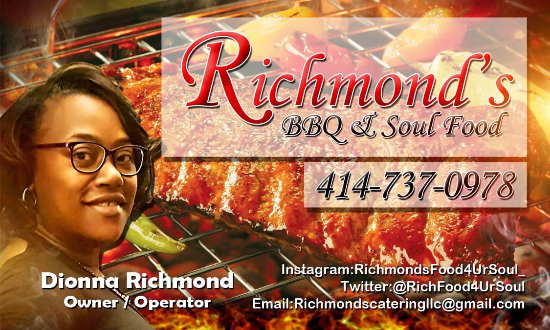 Richmond's BBQ Card