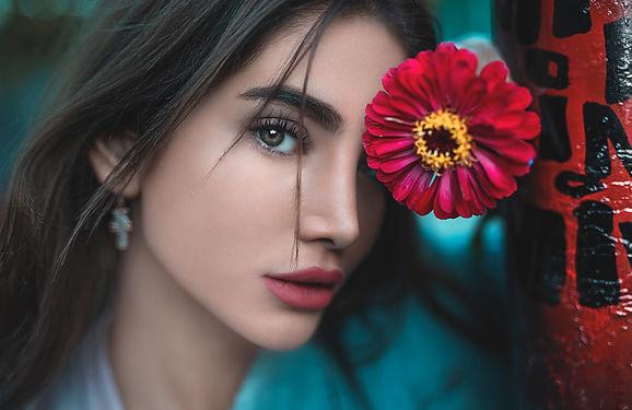 Teint sublime d'une femme