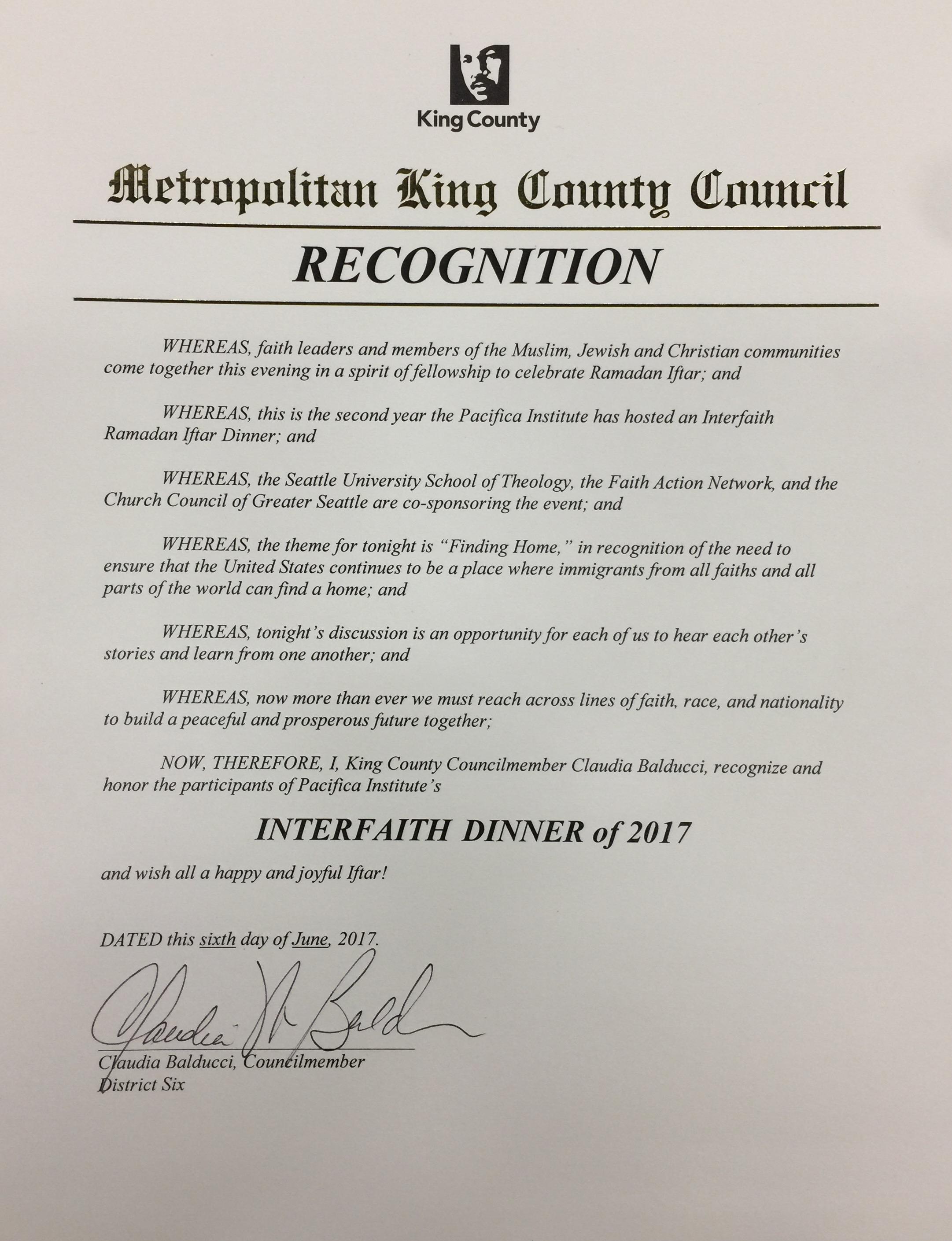 Metropolitan King County Council