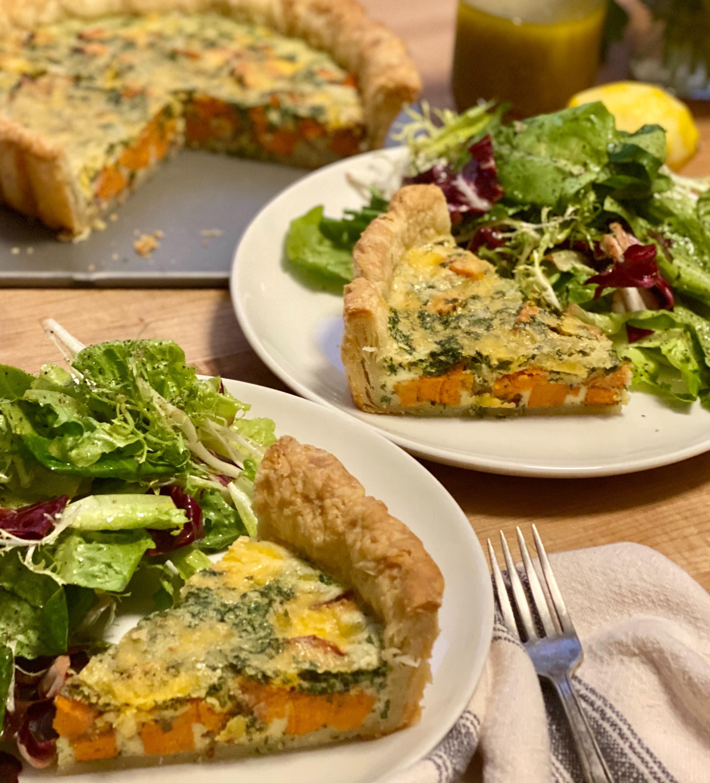 Classic Quiche and Salade Vinaigrette