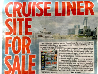 London Cruise Port Land Up For Sale and Developer Pulls Out