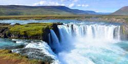 Iceland Godafoss Waterfall Akureyri