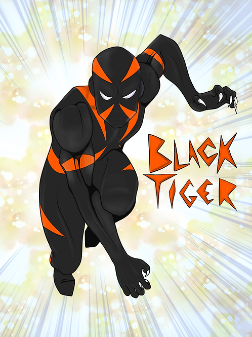 Black Tiger Poster Art V. 1