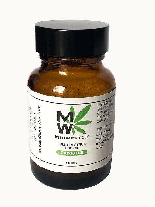 CBD Capsules 100 mg per capsule (Full Spectrum)