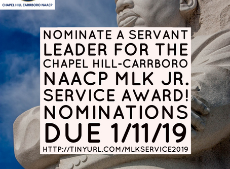 Chapel Hill-Carrboro NAACP MLK Jr. Service Award- Submit a Nomination