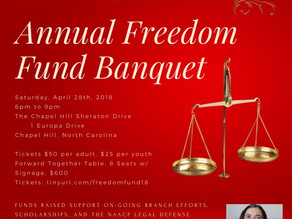 Tickets on Sale Now! Chapel Hill Carrboro Freedom Fund Banquet